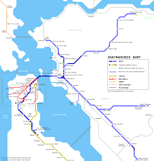 Bart Route Map by Urbanrail Net U003e North America U003e Usa U003e California U003e San Francisco Bart
