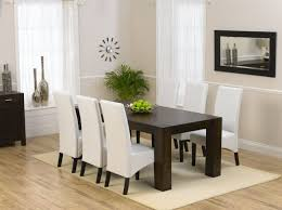 Plain White Leather Dining Room Set Chair For Decor - White leather dining room set