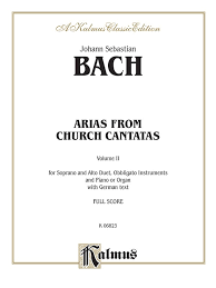 arias from church cantatas volume ii 4 duets vocal book