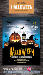 free halloween party u2013 flyer vector template free psd templates