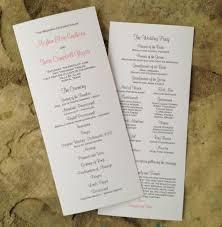 custom wedding program tea length