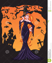 halloween witch drawing royalty free stock photography image