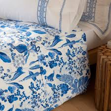 blue floral bed linen bedroom zara home united kingdom clipgoo