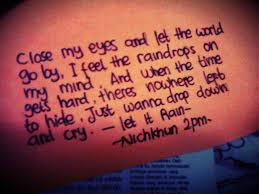 Lirik Lagu Lirik Lagu Nichkhun Let It This Is My World