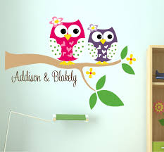 personalized owl decal name wall decal owl wall decals tree personalized owl decal name wall decal owl wall decals tree branch with owl sisters wall decal