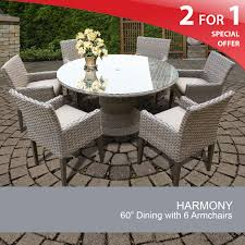 grey wicker dining set patio dining table and chairs