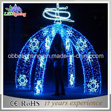 china arch decorative led arch with snowflake