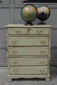antique chest of drawers painted with white ash farmhouse paint