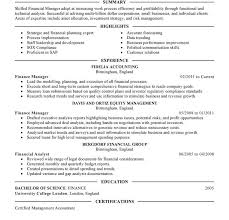 Financial Manager Resume Sample by Download Manager Resume Sample Haadyaooverbayresort Com