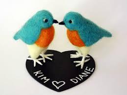 custom order bird wedding cake topper bird couple wedding