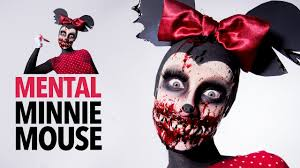 minnie mouse and daisy duck halloween costume mental minnie mouse sfx makeup tutorial youtube