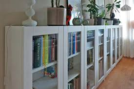 Ikea Bookcase With Glass Doors Ikea Bookcases With Doors Billy Bookcase Glass Door Hack Ikea