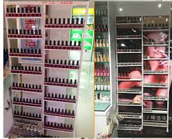 Nail Varnish Cabinet Aliexpress Com Buy Wrought Iron Nail Polish Rack Cabinet Salon