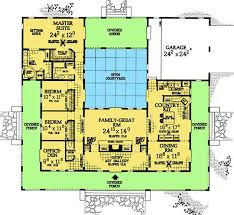 courtyard home plans u shaped house plans courtyard house plans u shaped nobby design