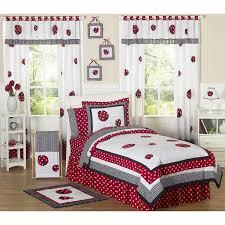 sweet jojo designs girls u0027ladybug u0027 4 piece twin comforter set