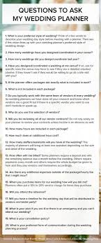 to be wedding planner wedding advice questions to ask your wedding planner wedding