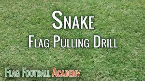 Flag Football Set For Adults Snake Drill Flag Football Flag Pulling Drill Youtube