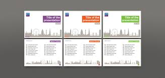 powerpoint template design for london business