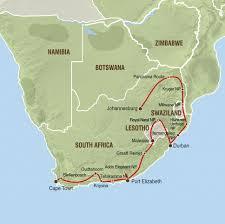 Lesotho Map Zuid Afrika Specialist Adventure Truck Reizen Net Zoals De