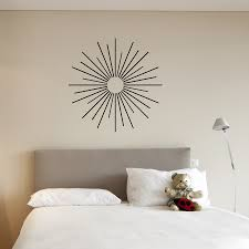 starburst wall decal