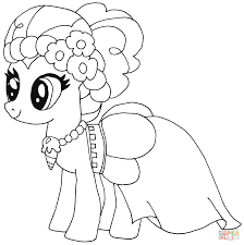 pinkie pie pony coloring pony