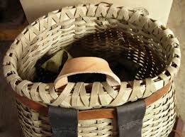 wicker basket with leather handles baskets pack