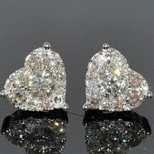diamond earrings philippines these heart shaped diamond earrings are elegance we simply can t