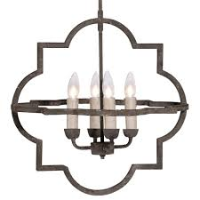 athena french country quatrefoil dark rusted iron chandelier