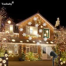 christmas spotlights low cost tanbaby laser projector waterproof moving snow snowflake