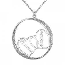 personalized heart pendant couples heart pendant 30mm personalized jewelry