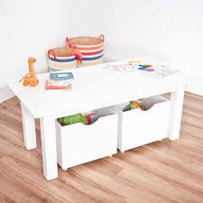 kids table with storage white play table with storage boxes jojo maman bebe