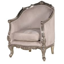 Tub Armchair Argentine Silver Metal Tub Chair French Chairs Silver French
