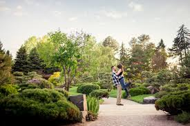cheesman park and denver botanic gardens engagement photography