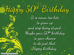 50th birthday card messages fugs info