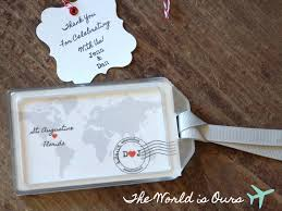 luggage tag wedding favors etsy finds lovely travel decor favors weddings and wedding