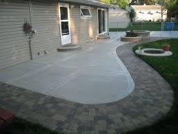 Backyard Cement Ideas Backyard Cement Patio Designs Home Design Ideas