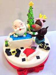 Christmas Cake Decorations Rudolph by 732 Best Christmas Cakes Cupcakes And Cookies Images On Pinterest