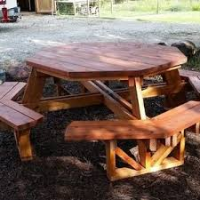 Red Cedar Octagon Walk In Picnic Table by The 25 Best Octagon Picnic Table Ideas On Pinterest Octagon