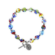 beaded heart bracelet images Murano style heart bracelet the catholic company jpg