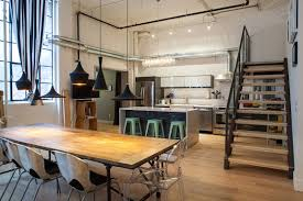 industrial kitchen furniture awesome modern industrial kitchen design with wooden dining table