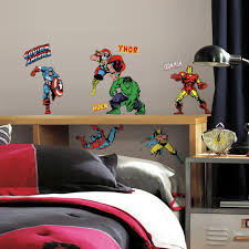 classic marvel superheroes wall decals eonshoppee classic marvel superheroes wall decals