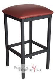 gladiator contemporary square backless black bar stool w choice