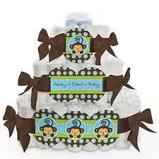 monkey boy baby shower monkey boy baby shower 3 tier cake 400 400 baby shower