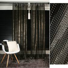 Black Gold Curtains Gold Glitter Black Sheer Curtain Drapery Voile Panel
