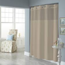 Shower Curtain Pique Mystery Hookless Fabric Shower Curtain