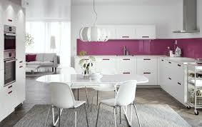 C Kitchen Design L Shape Kitchen Design With Purple Drawers And Glass Wall Curtains