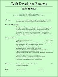 web developer resume experienced web developer resume tomyumtumweb