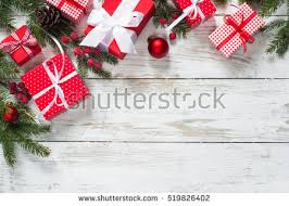 Decorative Christmas Gift Boxes Christmas Background Decorations Gift Boxes On Stock Photo