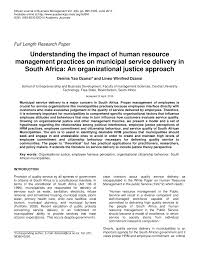 understanding the impact of human resource management practices on