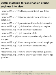 construction project engineer sample resume 2 project engineer